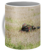 Belgian Paratroopers On Guard Coffee Mug by Luc De Jaeger