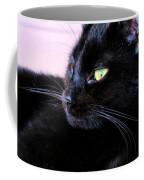 Green Eyes Coffee Mug by Art Dingo
