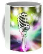 Microphone On Stage Coffee Mug by Setsiri Silapasuwanchai