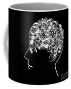 Brain Design By Cogs And Gears Coffee Mug by Setsiri Silapasuwanchai