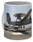 An E-2c Hawkeye Lands Aboard Coffee Mug by Stocktrek Images