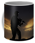 Partially Silhouetted U.s. Marine Coffee Mug by Terry Moore