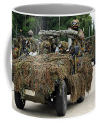 A Recce Or Scout Team Of The Belgian Coffee Mug by Luc De Jaeger