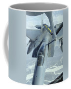A F-15 Eagle Receives Fuel Coffee Mug by Stocktrek Images