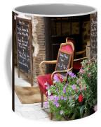 A French Restaurant Greeting Coffee Mug by Lainie Wrightson