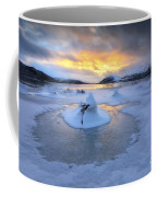 A Frozen Fjord That Is Part Coffee Mug by Arild Heitmann