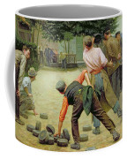 A Game Of Bourles In Flanders Coffee Mug by Remy Cogghe