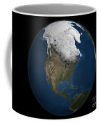 A Global View Over North America Coffee Mug by Stocktrek Images