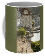A Lucerne Street Scene In The City Coffee Mug by Annie Griffiths