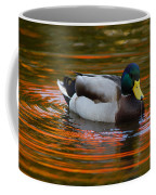 A Male Mallard Duck Drinking.  Fall Coffee Mug by Darlyne A. Murawski