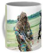 A Sniper Of The Belgian Army Together Coffee Mug by Luc De Jaeger