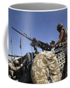 A Soldier Of The British Army Mans Coffee Mug by Andrew Chittock