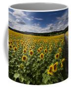 A Sunny Sunflower Day Coffee Mug by Debra and Dave Vanderlaan