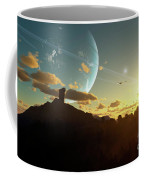 A Sunset On A Forested Moon Which Coffee Mug by Brian Christensen