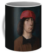 A Young Man In A Red Cap Coffee Mug by Michiel Sittow