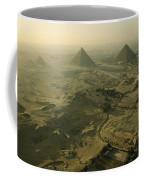 Aerial View Of The Pyramids Of Giza Coffee Mug by Kenneth Garrett