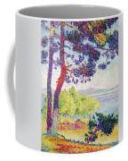 Afternoon At Pardigon Coffee Mug by Henri-Edmond Cross