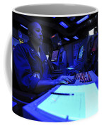 Air Traffic Controller Stands Watch Coffee Mug by Stocktrek Images