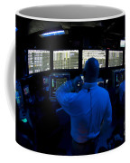 Air Traffic Controller Watches Coffee Mug by Stocktrek Images