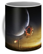 An Apocalyptic Scene Showing A Gravity Coffee Mug by Tobias Roetsch