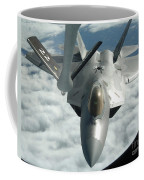 An F-22a Raptor Refuels With A Kc-135 Coffee Mug by Stocktrek Images