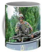 An Infantry Soldier Of The Belgian Army Coffee Mug by Luc De Jaeger