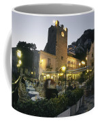 An Outdoor Cafe-restaurant With Diners Coffee Mug by Richard Nowitz