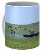 Argentine Gauchos, Or Cowboys, Herd Coffee Mug by James P. Blair
