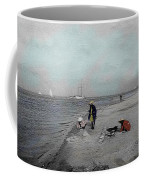 At The Beach Coffee Mug by Andrew Fare