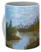 Autumn Mountains Lake Landscape Coffee Mug by Georgeta  Blanaru