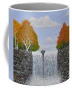Autumn Waterfall Coffee Mug by Georgeta  Blanaru