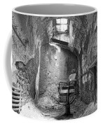 Barber - Chair - Eastern State Penitentiary - Black And White Coffee Mug by Paul Ward