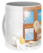 Bathroom Interior Still Life Coffee Mug by Amanda Elwell