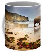 Beach Rhino Coffee Mug by Carlos Caetano