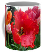 Beautiful From Inside And Out - Parrot Tulips In Philadelphia Coffee Mug by Mother Nature
