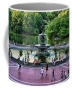 Bethesda Fountain Overlooking Central Park Pond Coffee Mug by Paul Ward