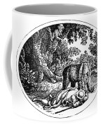 Bewick: Man And Bear Coffee Mug by Granger