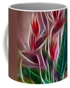 Bird Of Paradise Fractal Panel 2 Coffee Mug by Peter Piatt