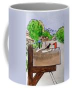 Bird On The Mailbox Sketchbook Project Down My Street Coffee Mug by Irina Sztukowski