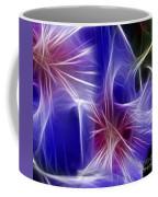 Blue Hibiscus Fractal Panel 4 Coffee Mug by Peter Piatt