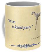 Bottled Poetry Coffee Mug by Elaine Plesser