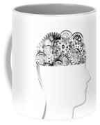 Brain Design By Cogs And Gears Coffee Mug by Setsiri Silapasuwanchai