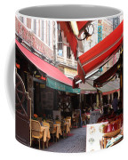 Brussels Restaurant Street - Rue De Bouchers Coffee Mug by Carol Groenen