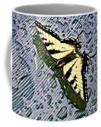 Butterfly In Rain Coffee Mug by Susan Leggett