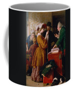 Choosing The Wedding Gown From Chapter 1 Of 'the Vicar Of Wakefield' Coffee Mug by William Mulready