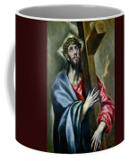 Christ Clasping The Cross Coffee Mug by El Greco
