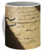 Close-up Of Emancipation Proclamation Coffee Mug by Todd Gipstein