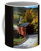 Covered Bridge In Vermont Coffee Mug by Rafael Macia and Photo Researchers