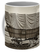 Covered Wagon Sepia Coffee Mug by Steve Harrington