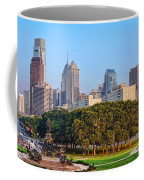 Downtown Philadelphia Skyline Coffee Mug by Olivier Le Queinec